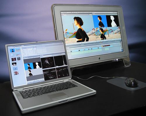 PowerBookG4 & CinemaDisplay