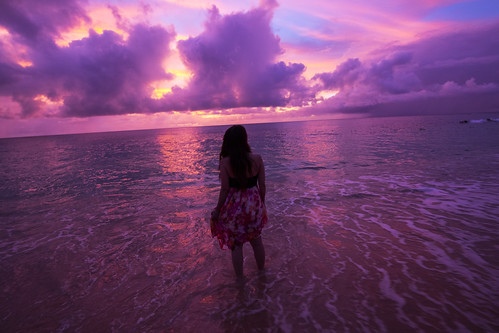 sunset beach with Satoppiko