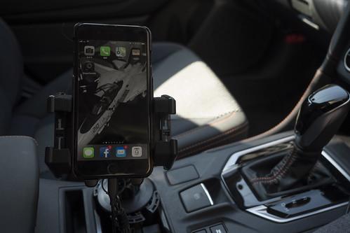 車内でのiPhone置き場 スマホ車載ホルダー