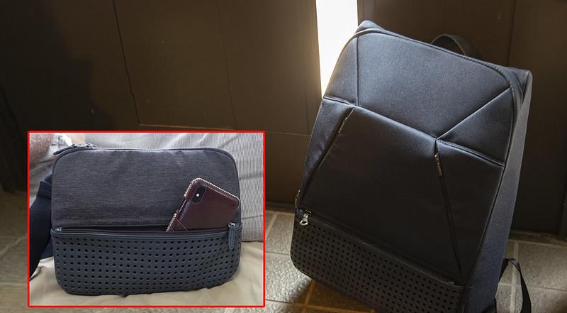 ひらくPCバッグ リュック&nanoのマトリョーシカ運用