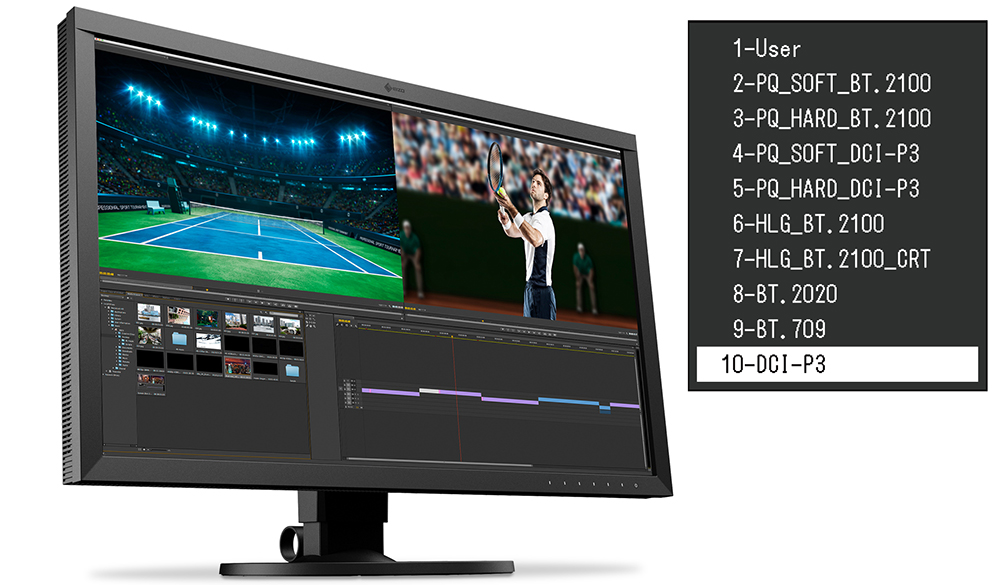 EIZOからPQ対応4Kモニター:ColorEdge CS2740-X