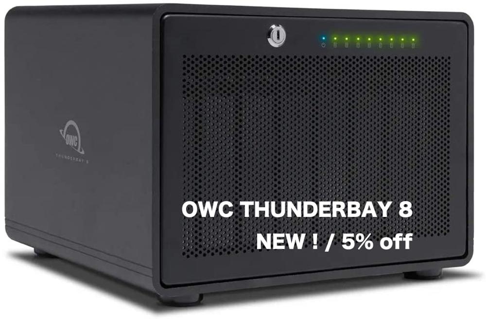 8ベイのTB3 RAID、OWC ThunderBay 8 日本発売