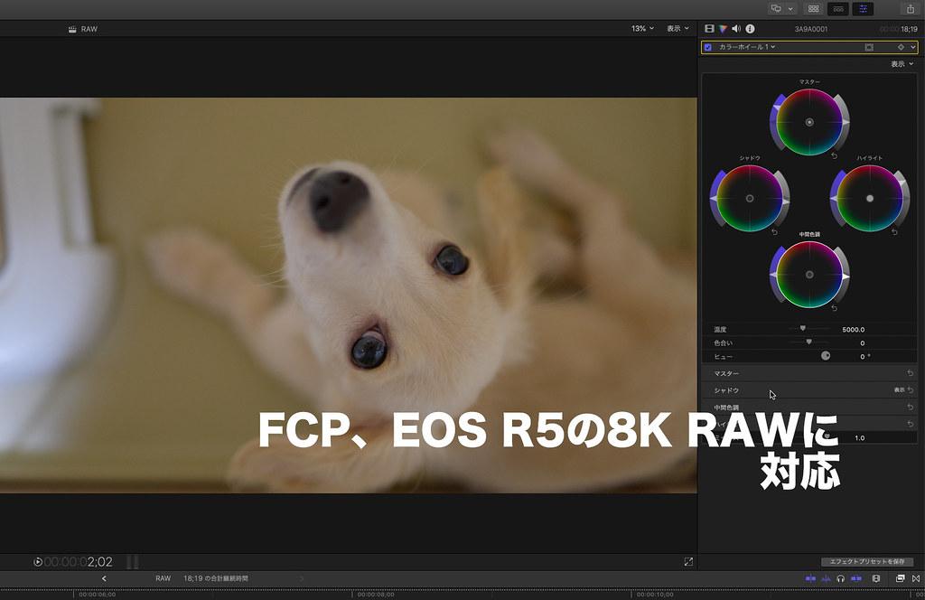 Final Cut Pro & EOS R5 8K RAW_01