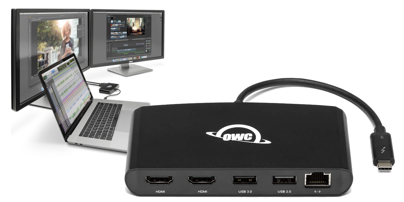 MBPの強化兵装:OWC Thunderbolt 3 mini Dock発売