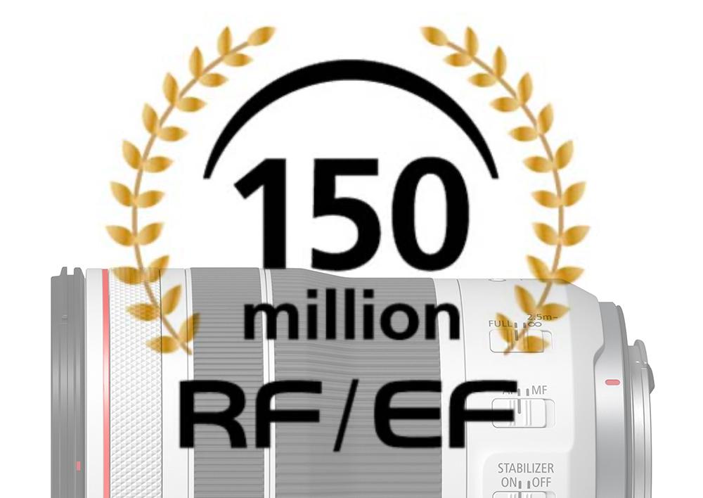 RF/EFレンズが1億5,000万本ときいて:キヤノン