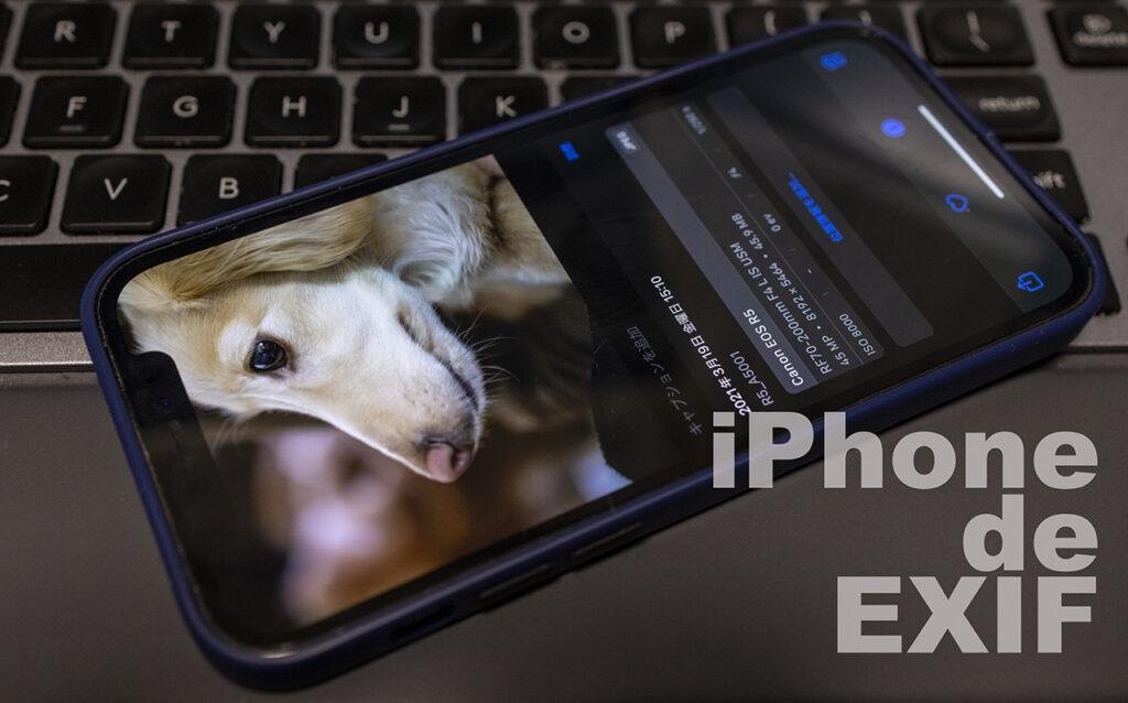 iPhoneで写真のEXIFが見えるように:iOS 15