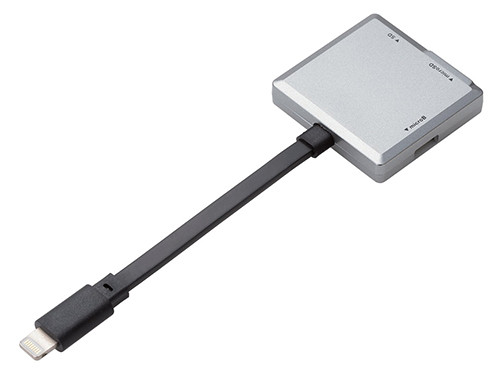 データもいけるiPhone対応Lightning SDカードリーダー