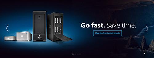 NAB発表のG-Technology 新型Thunderbolt3ストレージ