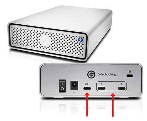 G-Technology TB3シリーズはHUB機能なし