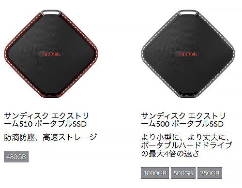 SanDisk EXtreme 500 に新型