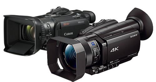 FDR-AX700 ソニーの4Kカムコーダーとキヤノン GX10