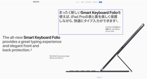 iPad Proとダジャレのタイプ